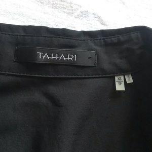 Tahari Tops - Black Tahiti Button Down